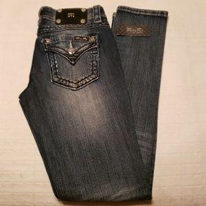 Miss Me Embellished Signature Skinny Jeans 27 x 31